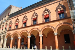 Porticos on Piazza di San Stefano in Bologna
