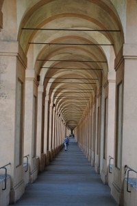 Porticos on the way from San Luca