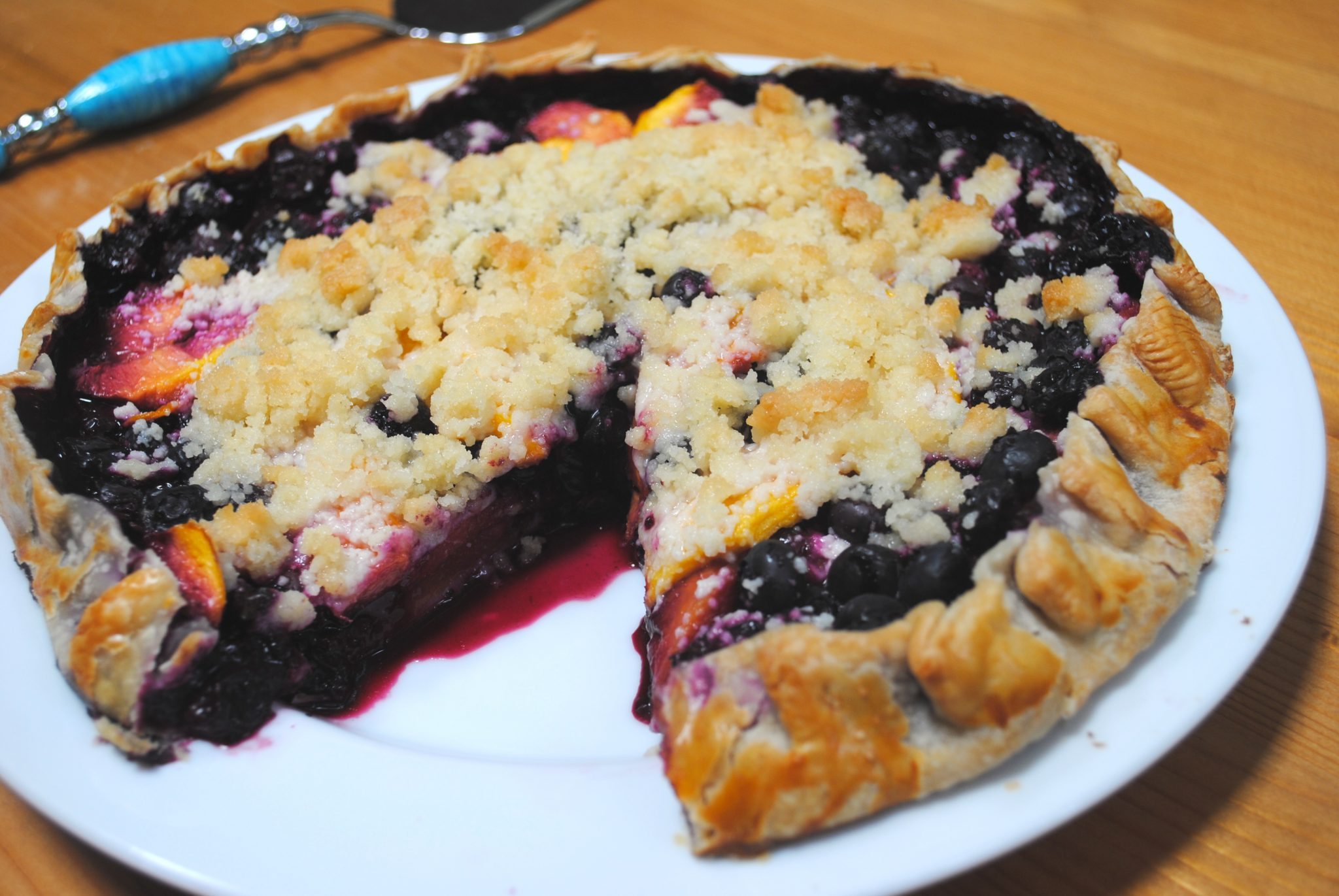 Blueberry Peach Crostada
