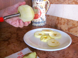 Coring Apples for Fritters