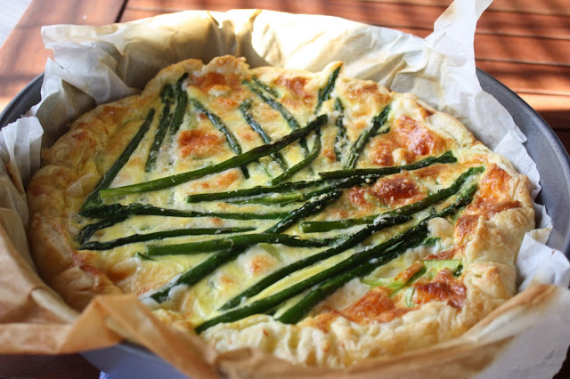 Egg Tart with Asparagus