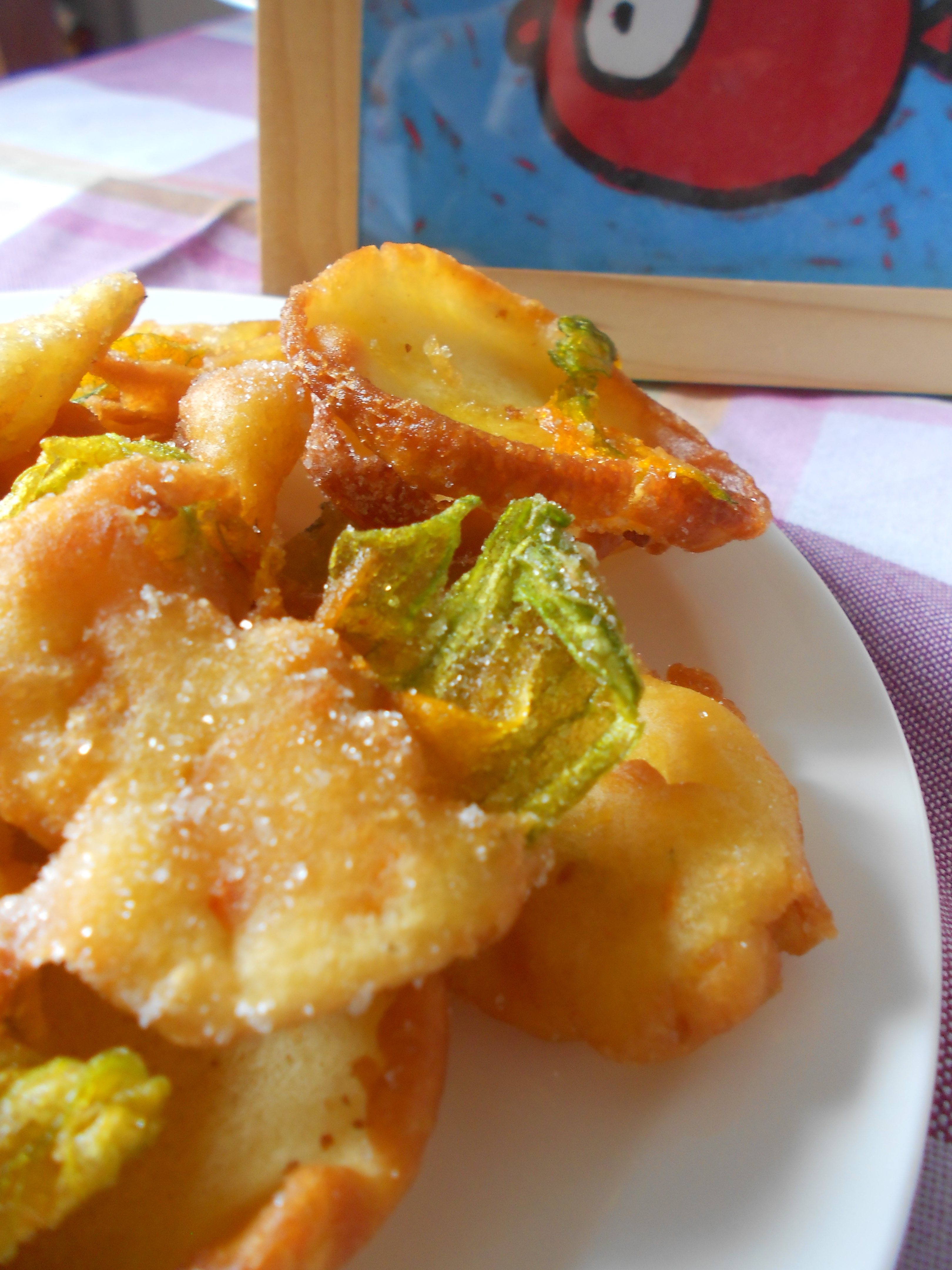 Fried Zucchini Flower Fritters