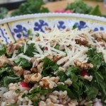 Farro Salad with Kale, Radishes and Toasted Walnuts