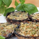 Four Cheese Stuffed Portobello Mushrooms (and Cooking with Daniel at ICE)