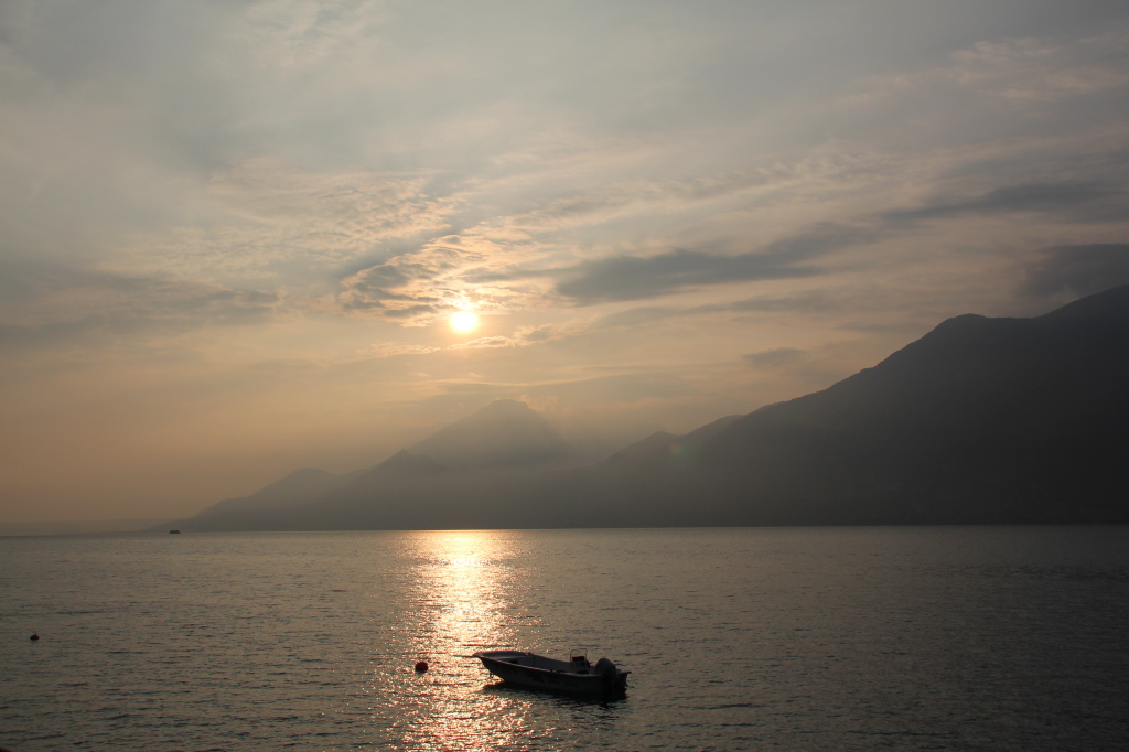 Sunset over Lake Garda