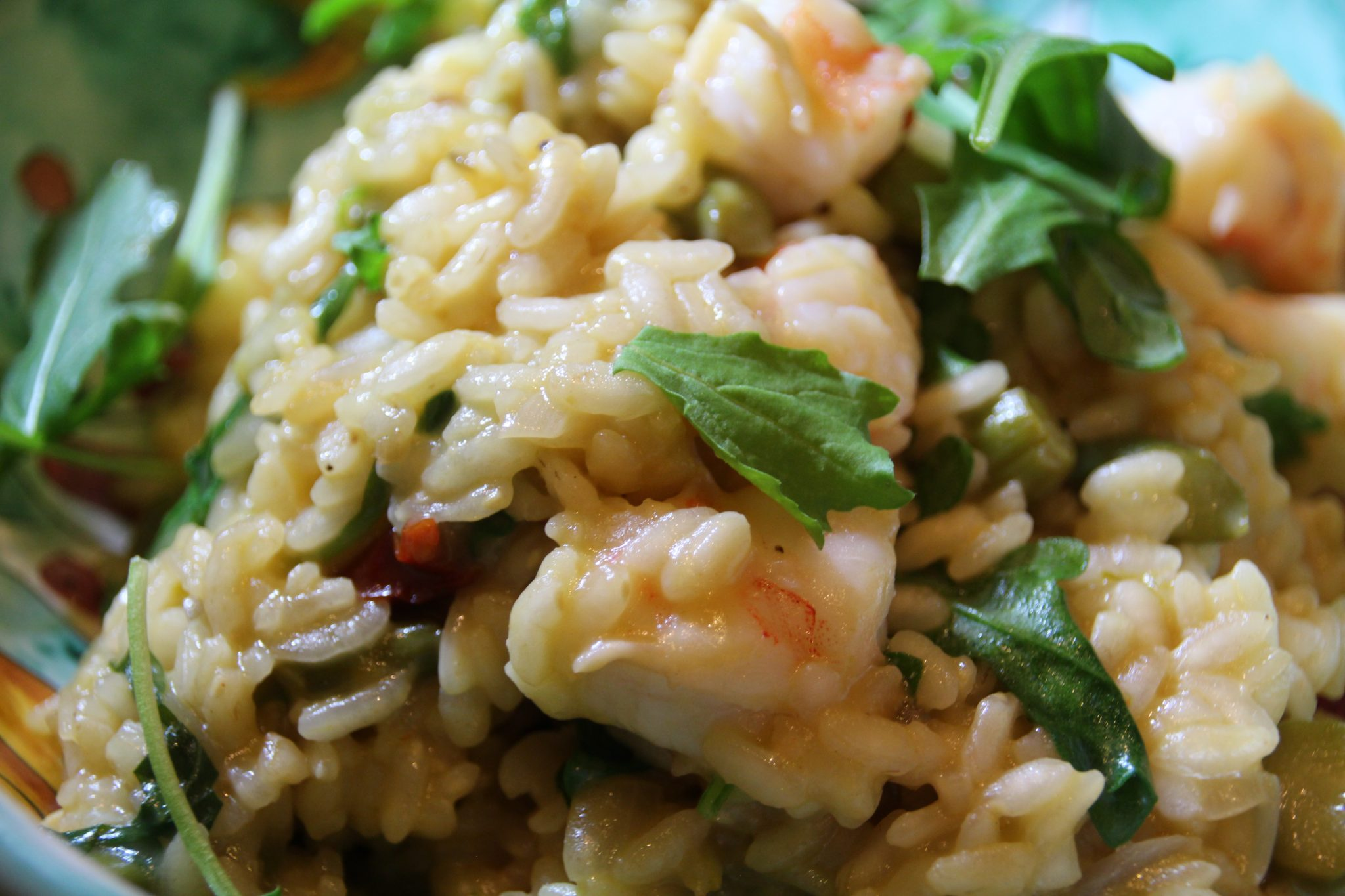 Risotto with Shrimps, Scallops and Asparagus