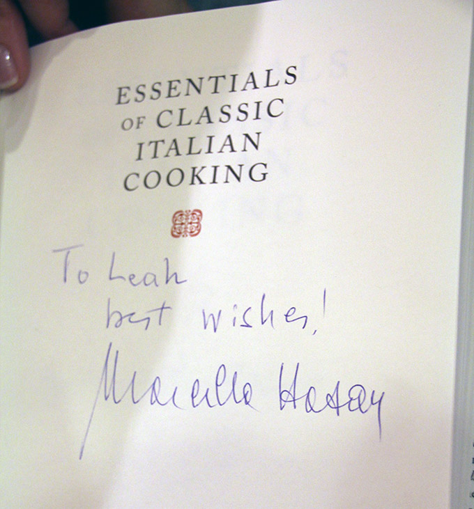 Signed Book by Marcella Hazan
