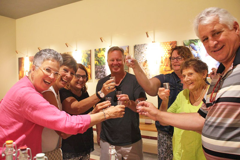 Grappa Toast on Prosecco Tour