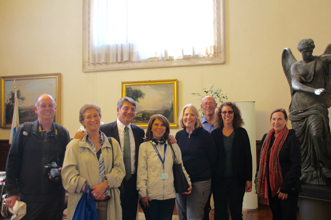 Visiting the mayor in Brescia