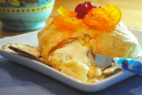 Baked Brie with Fruit Mostarda